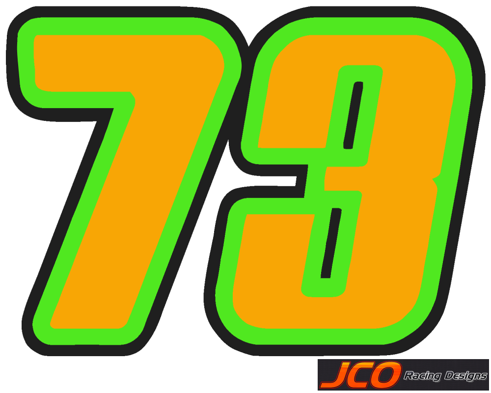 JCORacing Designs - Nationwide Numbers