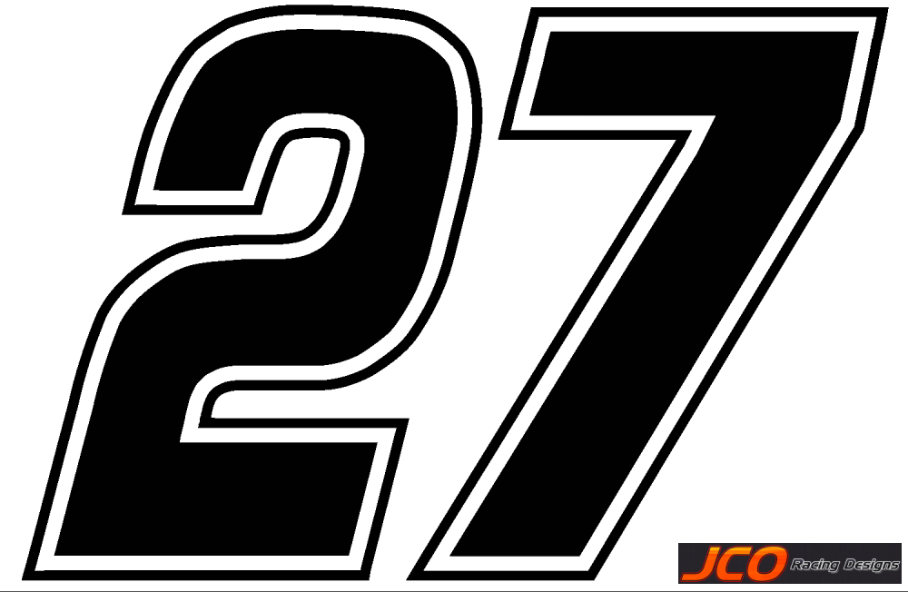 Jcoracing Designs Cup Numbers
